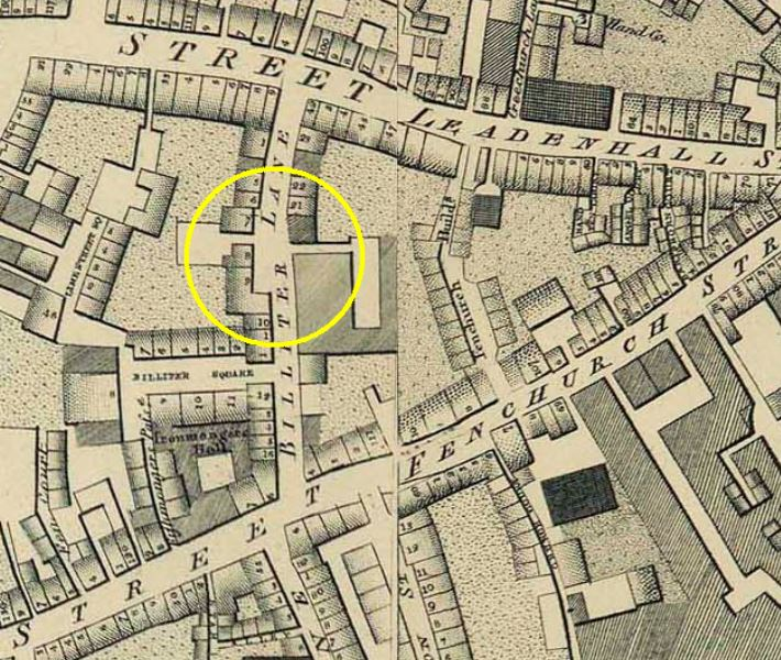 Horwoods Map of London 1799