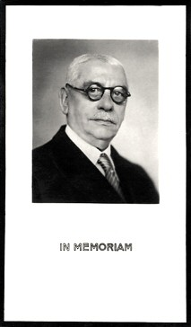 Bidprentje William Albers - voorzijde